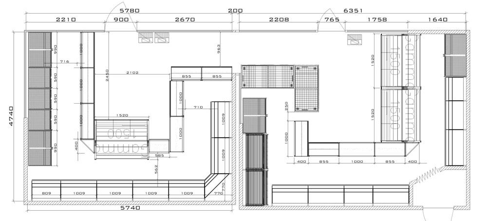 План схема торгового павильона